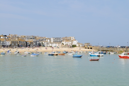 St Ives in Cornwall on a sunny day photo