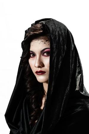 Portrait of a female vampire - Halloween theme. Stock Photo