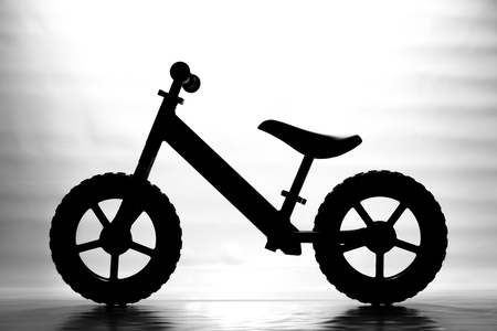 silhouette of Kids balance Bike