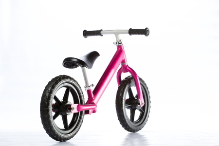 Kids balance Bike on white background