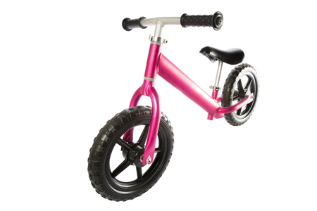 Kids balance Bike on white background.