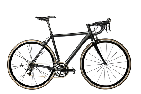 road bike on white background - stock image