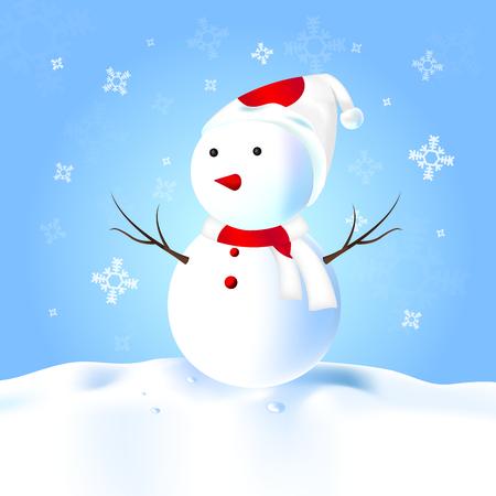 rad: Japan Snowman with hat, scarf, snow