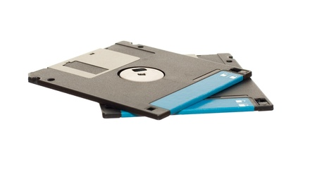 dataset: diskettes isolated on the white background