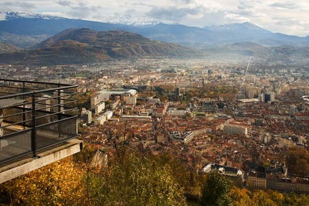 Grenoble Panorama Stock Photo