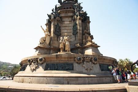 colom: Monument a Colom pedestal