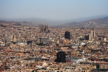 Barcelona view with Sagrada Familia