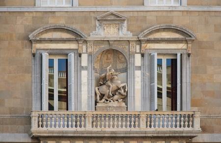catalunya: Facade of Palau de la Generalitat de Catalunya