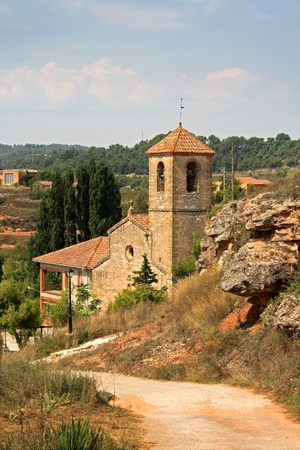 Church in a Catalan village, Spain photo