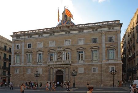 generalitat: The Palau de la Generalitat de Catalunya in Barcelona, Spain.
