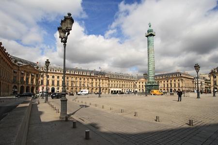 PARIS - April 04: Place Vendome on April 04, 2011 in Paris. Place Vendome is one of the famous landmarks of Paris.