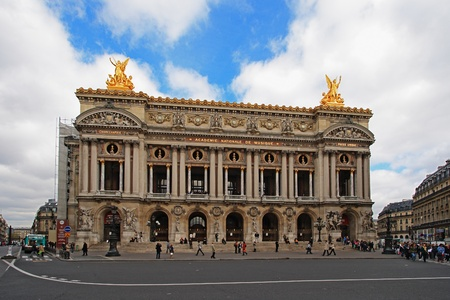 The Opera Garnier of Paris.