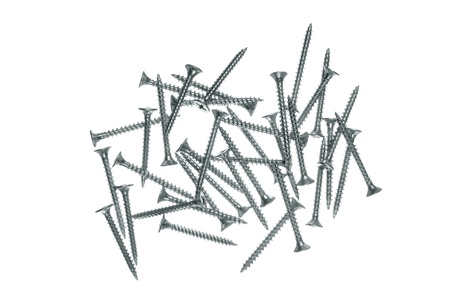 Screws isolated on the white background photo