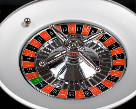 Ball is rolling on roulette