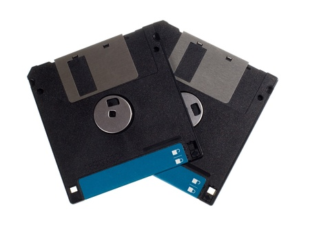 dataset: Floppy diskettes isolated on the white background