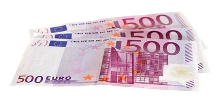 five hundred euro bills