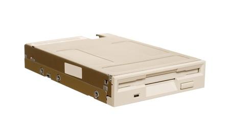 dataset: Floppy disk drive isolated over white