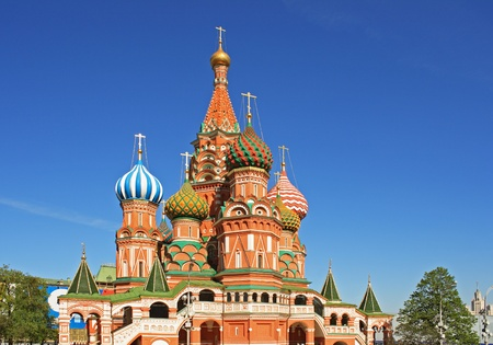St. Basil's Cathedral at the Red Square in Moscow (Russia) Stock Photo - 12568143