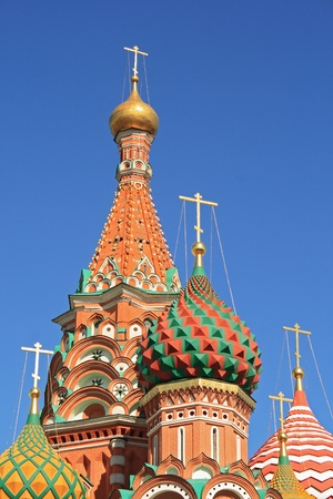 St. Basils Cathedral at the Red Square in Moscow (Russia)