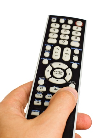 Remote control isolated on the white background Stock Photo