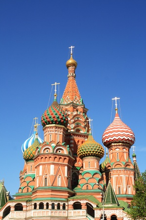 St. Basils Cathedral at the Red Square in Moscow (Russia) photo