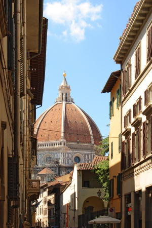 View of the Duomo and the city of Florence, in the Italian Tuscany   Stock Photo
