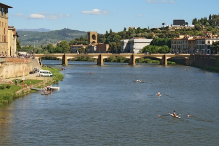 arno: View of the Arno river in Florence Stock Photo