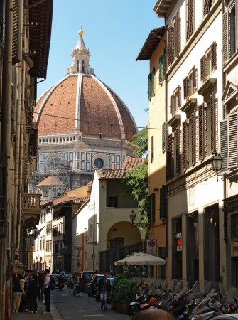 FLORENCE - MAY 03  View of the Duomo and the city on May 03, 2012 in Florence  Duomo is the most attractive destinations of Florence, Italy