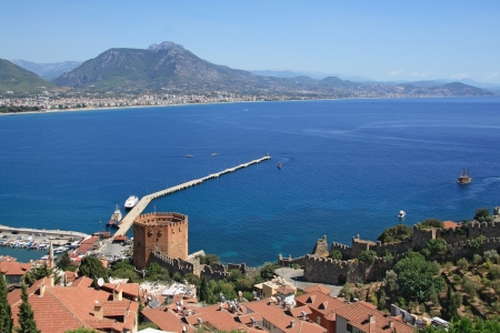 seljuk: Alanya city and famous Red Tower