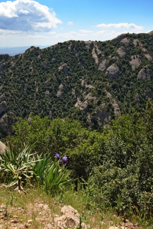 parc: View from Montserrat - a multi-peaked mountain near Barcelona, Catalonia, Spain