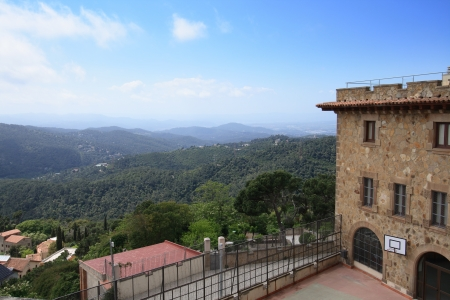 View from Tibidabo mountain, Barcelona, Spain