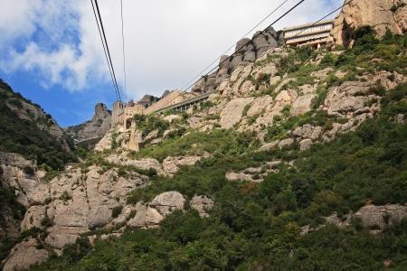 A station of Montserrat Aeri (cableway) on Montserrat mountain, Catalonia, Spain