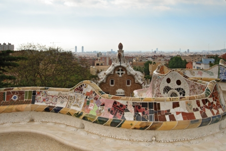 commissioned: Park Guell in Barcelona  Park Guell was commissioned by Eusebi Guell and designed by Antonio Gaudi