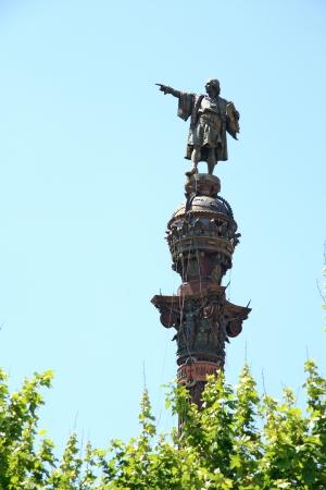 Monument of Colon (Columbus), Barcelona, Spain.