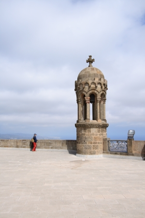 tibidabo: Details of church on Tibidabo mountain, Barcelona, Spain  Stock Photo