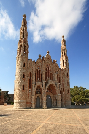 Sanctuary of Santa Maria Magdalena in Novelda, Spain. The Sanctuary was built in the beginning of XX century by followers of Gaudi.