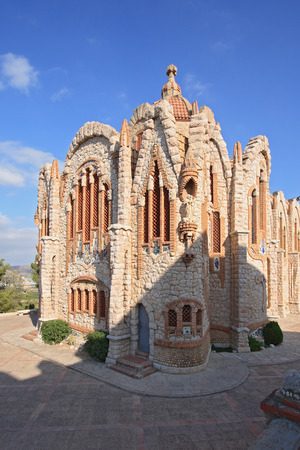 xx century: Sanctuary of Santa Maria Magdalena in Novelda, Spain.  The Sanctuary was built in the beginning of XX century by followers of Gaudi.