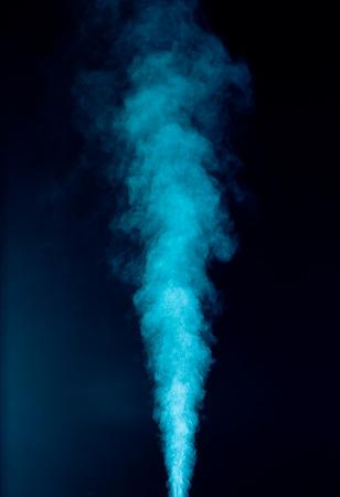 Blue vapor on the black background  Stock Photo
