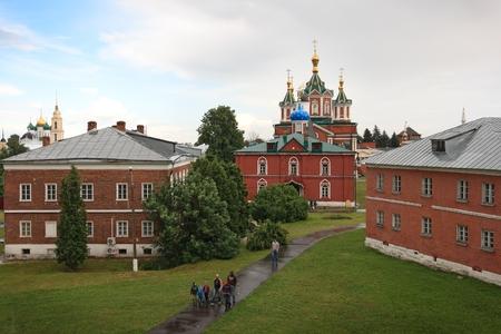 KOLOMNA, RUSSIA - JUNE 14: Tourists walk within Uspensky Brusensky monastery in the Kolomna Kremlin, Russia on June 14, 2014. The kremlin was built in the 16th Century and the Monastery in the 19th. Editorial