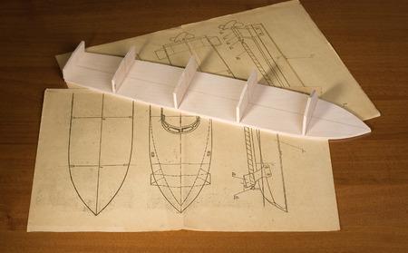 Ship scale model construction
