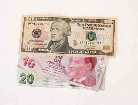 tl: Financial crisis: new ten dollars over thirty crumpled turkish lira