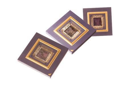 Microprocessors isolated on white
