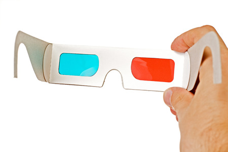 stereoscopic: 3d glasses isolated on the white background