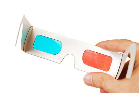 stereoscope: 3d glasses isolated on the white background