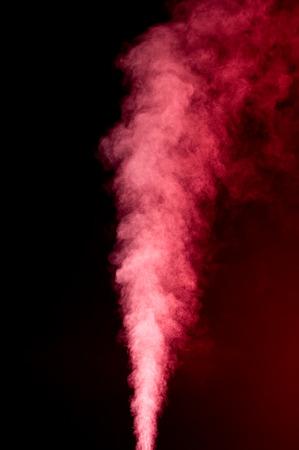 vapor: Red vapor on black background