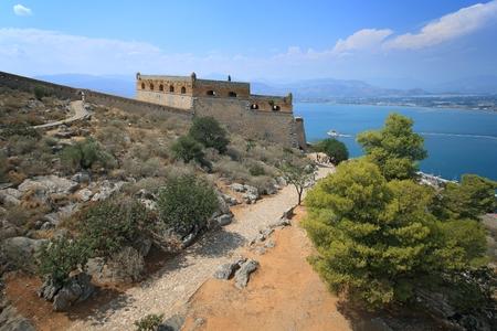 nafplio: Palamidi Fortress in Nafplion, Argolis Peloponnese, Greece Editorial