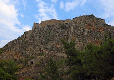 nafplio: Palamidi fortress on the hilltop, Nafplion, Greece