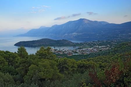 peloponnes: overlooking greek bay Stock Photo