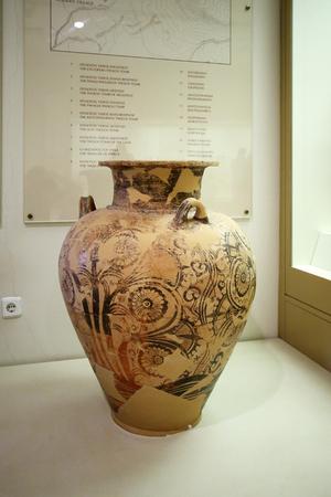 pottery in museum of Mycenae, Greece