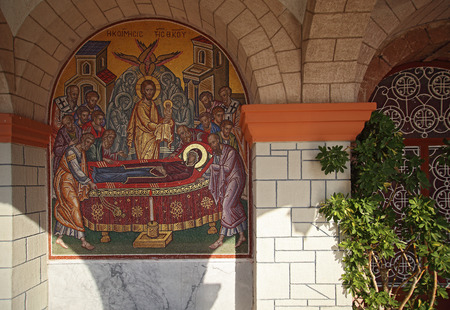 nafplio: Decor of Nafplio city church in Greece